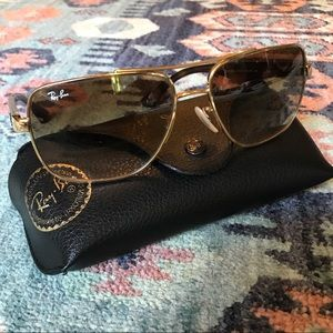 Ray-Ban Gold Frame RB3483 Gradient Lens Sunglasses